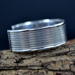 Cuff Bangle Handmade 925 Sterling Plain Silver Women And Girls Jewelry 925 Stamped Jewelry