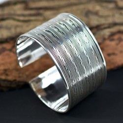 Cuff Bangle Hinged Silver Bangle Plain Silver Bangle 925 Sterling Silver 925 Stamped Silver Jewelry