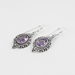 Amazing !! Silver Jewelry Earring Amethyst Gemstone Silver Jewelry Earring