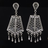 Dangle Push Back Earring Handmade Earring 925 Sterling Silver Vintage Stylish Jewelry