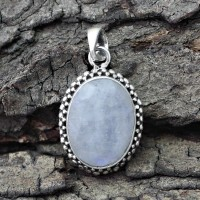 Masterly !! Rainbow Moonstone 925 Sterling Silver Pendant
