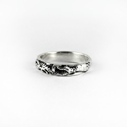 Dragon Band Ring 925 Sterling Plain Silver Indian Oxidized Silver Jewelry