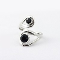 Elegant Black Onyx 925 Sterling Silver Ring Wholesale Silver Jewelry Indian Silver Jewelry