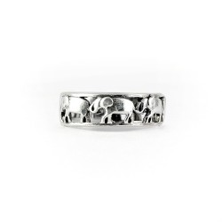 Elephant Band Ring 925 Sterling Plain Silver Oxidized Indian Silver Jewelry