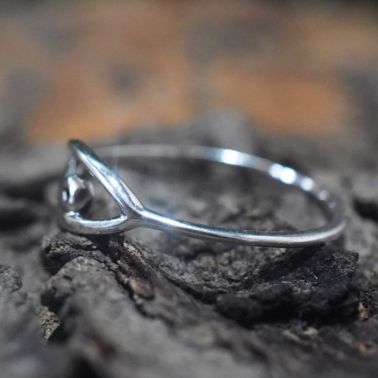 Excellent Eye Shape Band Ring Solid 925 Sterling Silver Wholesale Silver Ring Jewelry
