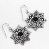 Exclusive Silver Oxidized Jewelry Brown Smoky Quartz Drop Earring 925 Sterling Silver Wholesale Jewelry
