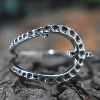Fancy Shape Band Ring Oxidized Silver Ring 925 Sterling Plain Silver Wholesale Silver Jewelry