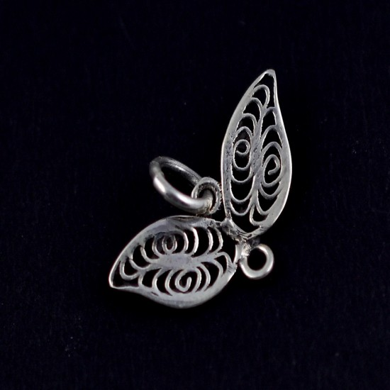 Feather Charming Pendant Solid 925 Sterling Plain Silver Jewellery Fine Silver Jewellery