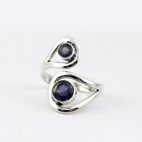 Genuine Blue Iolite 925 Sterling Silver Ring Friendship Ring Fine Silver Jewelry Gift For Her