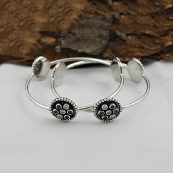 Multi Color CZ 925 Sterling Silver Handmade Bangle Jewelry Gift For Her