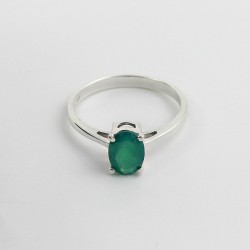Do Something!! Green Onyx 925 Sterling Silver Rhodium Plated Ring Jewelry