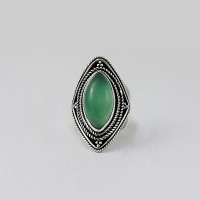 Green Onyx 925 Sterling Silver Handmade Ring Jewelry For Her