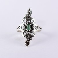 Green Onyx Ring 925 Sterling Silver Handmade Boho Ring Jewelry Gift  For Her