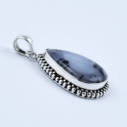 Handmade 925 Sterling Silver Dendritic Opal Pendant Wholesale Silver Jewellery Manufacture Silver Jewellery