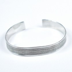 Handmade Cuff Bangle Solid 925 Sterling Plain Silver Jewelry Wholesale Silver Jewelry Gift For Her