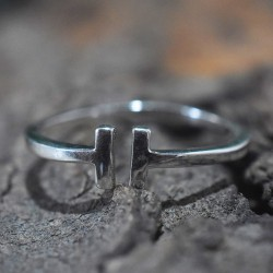 Handmade Silver Band Ring 925 Sterling Silver Ring 925 Stamped Jewelry Gift For Her