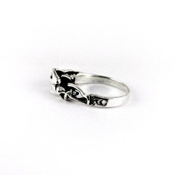 Human Figure Ring 925 Sterling Plain Silver Jewelry