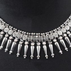 Surprised Gift !! Indian Birdal Necklace 925 Sterling Silver Oxidized Silver Necklace Handmade Silver Jewelry
