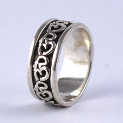 Indian Religious Jewellery Handmade 925 Sterling Plain Silver Band Ring Jewellery Exporter
