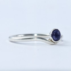 Iolite Ring Round Shape 925 Sterling Silver Wholesale Silver Jewellery Manufacture Silver Jewellery Exporter
