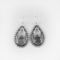 Best Deal Today !! Labradorite 925 Sterling Silver Earring