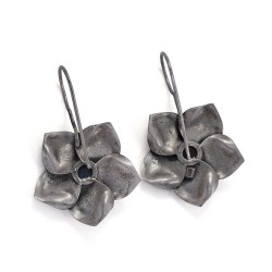 Labradorite 925 Sterling Silver Drop Dangle Earring Oxidized Silver Jewelry Gift For Her