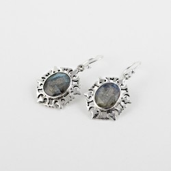 Aura Of Beauty !! Labradorite 925 Sterling Silver Earring