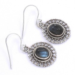 Labradorite Drop Dangle Earring 925 Sterling Silver Manufacture Silver Earring Jewelry Gift For Her