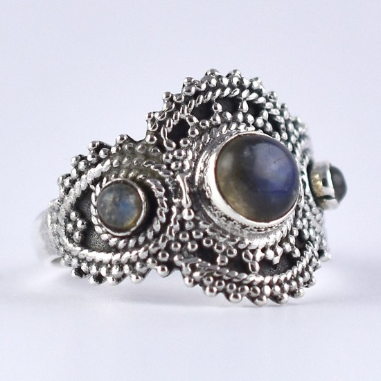 Labradorite Ring Handmade 925 Sterling Silver Boho Ring Indian Silver Jewelry Exporter