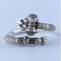 Labradorite Ring Handmade 925 Sterling Silver Indian Religious Jewelry Oxidized Silver Jewelry