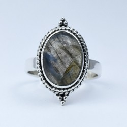 Labradorite Ring Oval Faceted Gemstone Handmade 925 Sterling Silver Wholesale Silver Jewelry