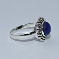 Lapis Lazuli Ring 925 Sterling Solid Silver Boho Ring Engagement Present Ring Jewelry