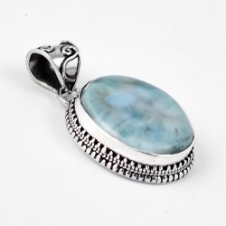Fabulous Quality !! Larimar Pendant 925 Sterling Silver Wholesale Silver Pendant Indian Jewellery