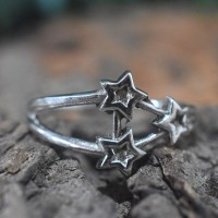 Little Star Shape Silver Band Ring 925 Sterling Silver Handmade Silver Ring Women Fashion Jewellery