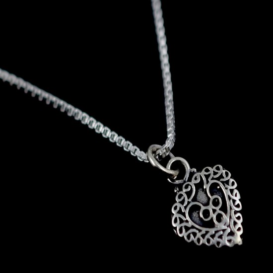 Love Pendant Heart Charming Shape Pendant 925 Sterling Silver Jewelry Gift For Her