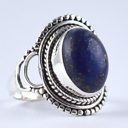 Lapis Lazuli Ring 925 Sterling Silver Handmade Boho Ring Birthstone Ring Jewelry Gift For Her
