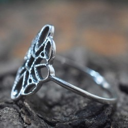Midi Ring Silver Ring 925 Sterling Silver Handmade Band Ring Oxidized Silver Jewellery