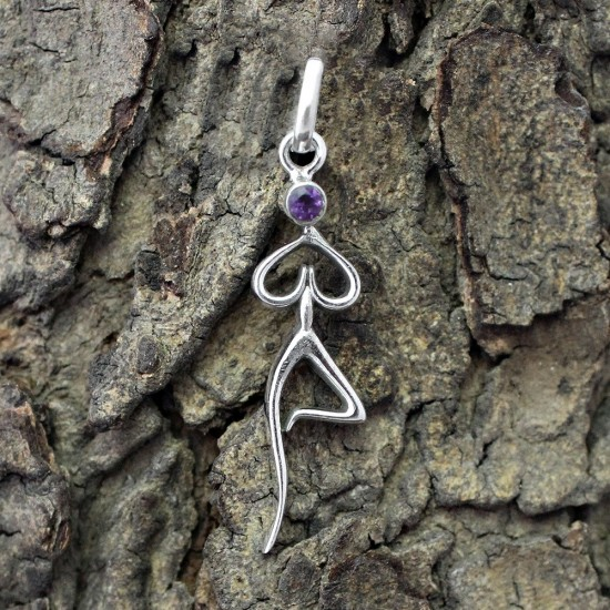 Unique Style Faceted Amethyst 925 Sterling Silver Pendant