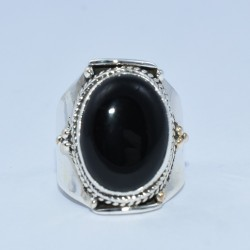 Natural Black Onyx Ring Handmade 925 Sterling Silver Wholesale Silver Ring Jewelry
