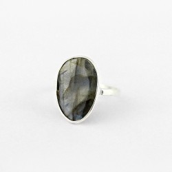 Natural Black Rainbow Labradorite Handmade 925 Sterling Silver Ring 925 Stamped Silver Jewellery