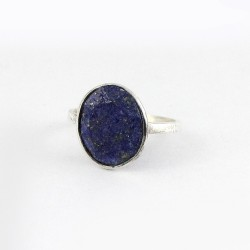 Natural Blue Lapis Lazuli Ring 925 Sterling Silver Handmade Silver Jewellery Manufacture Silver Jewellery