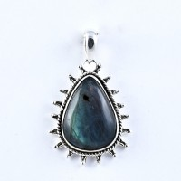 Natural Labradorite Pendant Handmade 925 Sterling Silver Wholesale Silver Pendant Jewelry