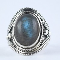 Natural Labradorite Ring Handmade 925 Sterling Silver Oxidized Jewelry Engagement Ring Jewelry
