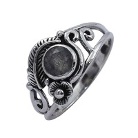 Natural Labradorite Ring Oxidized Silver Ring Handmade 925 Sterling Solid Silver Boho Ring Jewelry