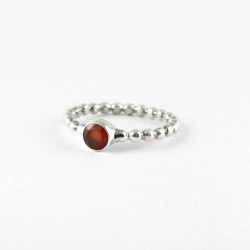 Natural Orange Carnelian Band Ring 925 Sterling Silver Ring Jewellery Women Handcrafted Jewellery