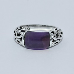 Royal Design !! Natural Purple Amethyst Ring 925 Sterling Silver Handmade Ring Jewelry