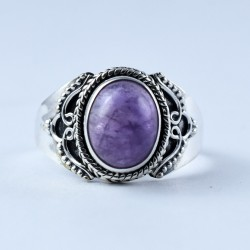 Natural Purple Amethyst Ring Handmade 925 Sterling Silver Boho Ring Birthstone Ring Jewellery Latest Fashion Jewellery