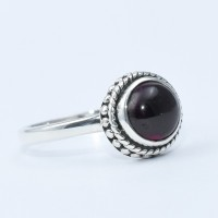 Natural Red Garnet Ring 925 Sterling Silver Handmade Solitaire Ring Jewellery Manufacture Silver Jewellery