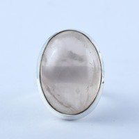 Simple Style !! Natural Rose Quartz Ring 925 Sterling Silver Wholesale Silver Jewelry Manufacture Silver Jewelry