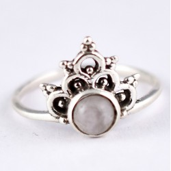 Natural Rose Quartz Ring Pink Colour 925 Sterling Silver Wholesale Silver Jewelry Exporter